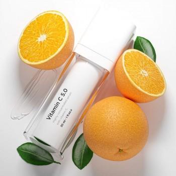Vitamin C 5,0 (30ml)- seerum fotovananemise ja vabade radikaalide tekitatud kahjustuste raviks.